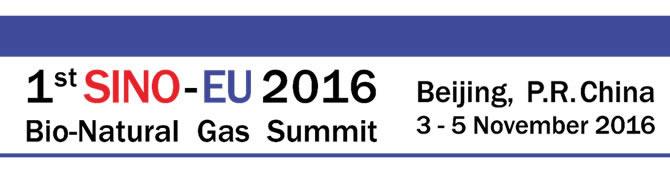 2016 Sino – EU Bio-Natural Gas Summit
